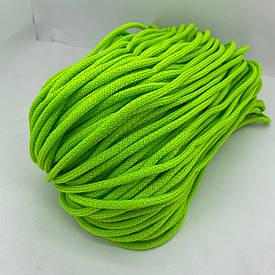 Полиэфирный шнур для вязания сумочек и рюкзаков без сердечника зернистый 5 мм 100 м (салатовый)128