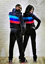 Мужской спортивный костюм BMW на молнии с капюшоном, фото 3
