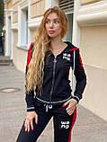 Жіночий спортивний трикотажний костюм, (Туреччина, Бренд); Розміри:З,М,Л,ХЛ (повномірні,) колір на фото., фото 2
