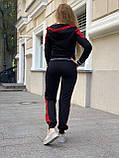 Женский спортивный трикотажный костюм, (Турция, Бренд); Размеры:С,М,Л,ХЛ (полномерные,) цвет на фото., фото 3