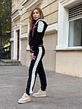Жіночий спортивний трикотажний костюм, (Туреччина, Бренд); Розміри:З,М,Л,ХЛ (повномірні,) колір на фото., фото 4