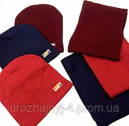 Набір шапка з нашивкою і хомут , підкладка хб р52-54 код 1060 Glory-kids