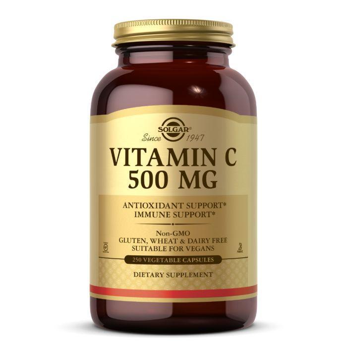 Витамины и минералы Solgar Vitamin C 500 mg, 250 вегакапсул