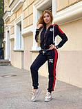 Жіночий спортивний трикотажний костюм, (Туреччина, Бренд); Розміри:З,М,Л,ХЛ (повномірні,) колір на фото., фото 7
