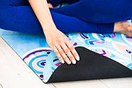 Коврик для йоги Замшевый 183 х 68 х 0,3 см с мандалой, фото 5