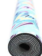 Коврик для йоги Замшевый 183 х 68 х 0,3 см с мандалой, фото 9