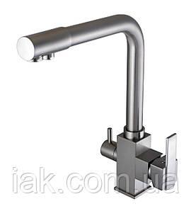 Змішувач для кухні під осмос Globus Lux GLLR-0100-8-STSTEEL