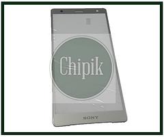 Стекло для переклейки дисплея Sony Xperia XZ2 H8266, серебро