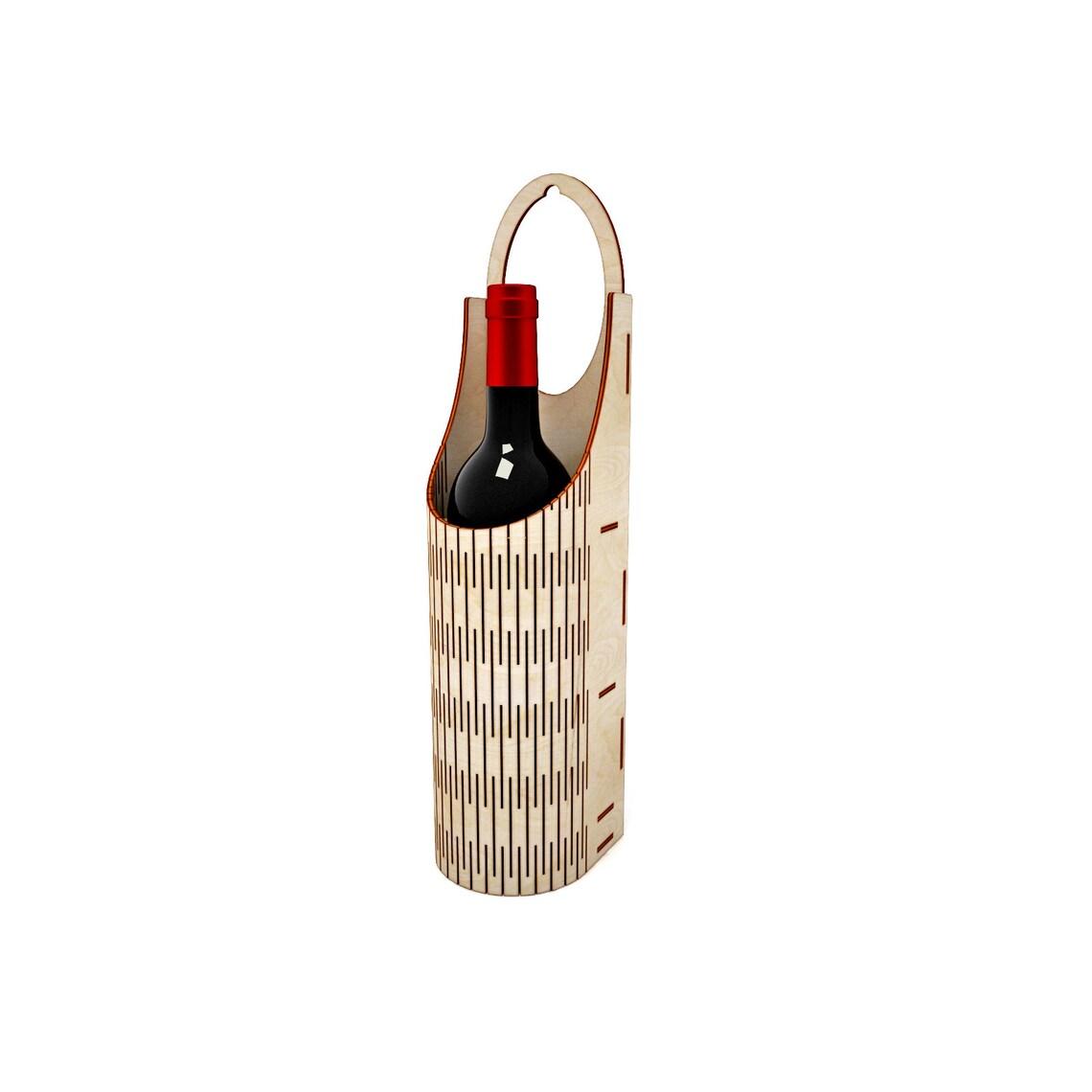 Коробка для вина на одну пляшку з фанери