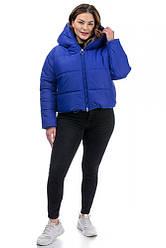 Короткая зимняя женская куртка оверсайз