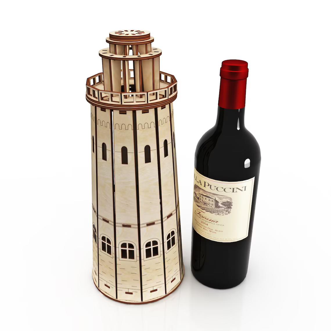 Пам'ятна коробка з дерева для пляшки вина