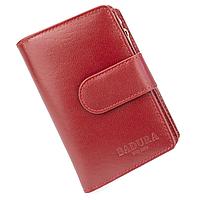 Женский кожаный кошелек маленький красный Badura B-50313 red
