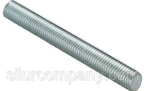 Шпилька різьбова метрична DIN 975 M27x1000 8,8 цинк ліва різьба