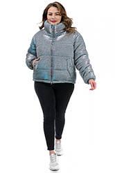 Короткая женская зимняя куртка свободного кроя