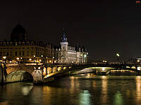 "Картина на стекле ""Night Paris"""