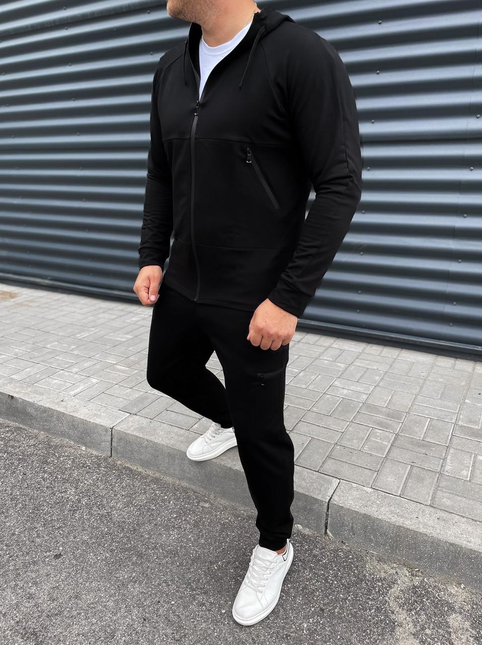 Спортивний костюм чоловічий чорний весна осінь