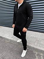 Спортивний костюм чоловічий чорний весна осінь, фото 1