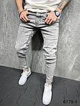 Джинсы - Мужские трендовые джинсы серые / чоловічі трендові джинси сірі світлі, фото 2