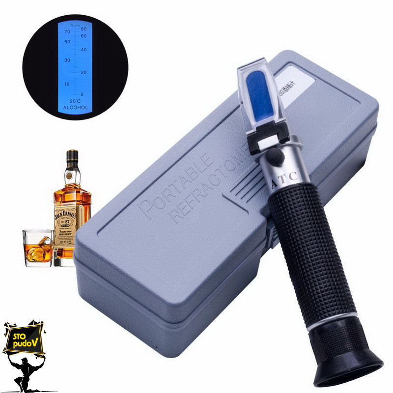 Рефрактометр для спиртних напоїв RHW-80ATC 0-80 % Vol