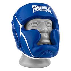 Боксерский шлем тренировочный PowerPlay 3100 PU Синий M