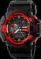 Спортивные часы Skmei 1117. Двойной циферблат, водонепроницаемые, ударопрочное стекло., фото 1