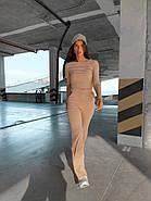 Стильний костюм двійка (штани вільного крою і кофта укорочена з довгим рукавом), фото 2