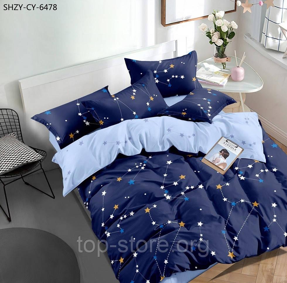 """Качественное постельное белье евро размера """"Бязь Gold"""" Размер 200*215"""