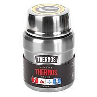 Термос для їжі з ложкою Thermos King-Flask 470 мл Stainless Steel (173025)