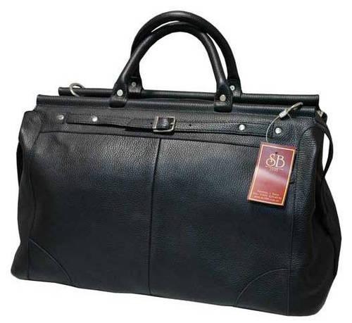 Модная кожаная сумка-саквояж 28 л SB 1995 702312 черная