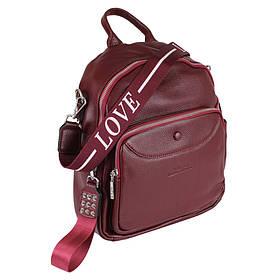 Сумка-рюкзак шкіряні de esse Вишнева