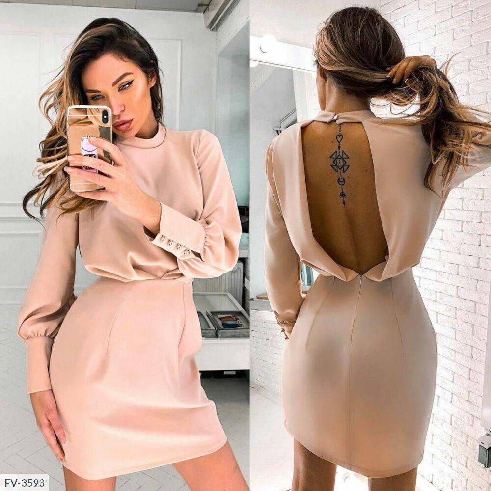 Сукня з відкритою спинкою