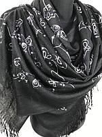 Женские палантины с пайеткой и бахромой Пашмина 160х70 см