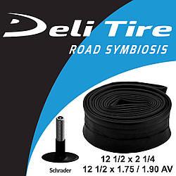 Камера Deli Tire 12 1/2 х 2 1/4 AV 35мм для дитячих велосипедів або колясок / кривий автониппель