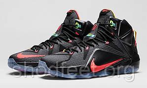 Мужские кроссовки Nike Lebron 12 Black/Mango