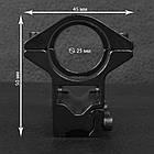 Кріплення на зброю для оптичного прицілу, на базі GM-001 (2x25mm), фото 4