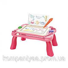 Дитячий ігровий столик для малювання 2в1 669-27-28A (Рожевий)