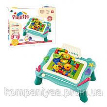 Дитячий ігровий столик для малювання 2в1 669-27-28A (Бірюзовий)