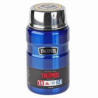 Термос для їжі з ложкою Thermos King-Flask 710 мл Metallic Blue (173055)