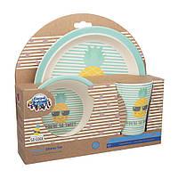 Набор посуды бамбуковый 3 элемента бирюзовый Canpol Babies So Cool (5901691839922)