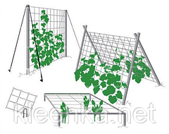 Сетка САДОВАЯ, вольерная пластиковая на метраж 2 м ширина, фото 3