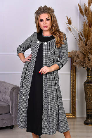 Трапециевидное платье для полных женщин, фото 2