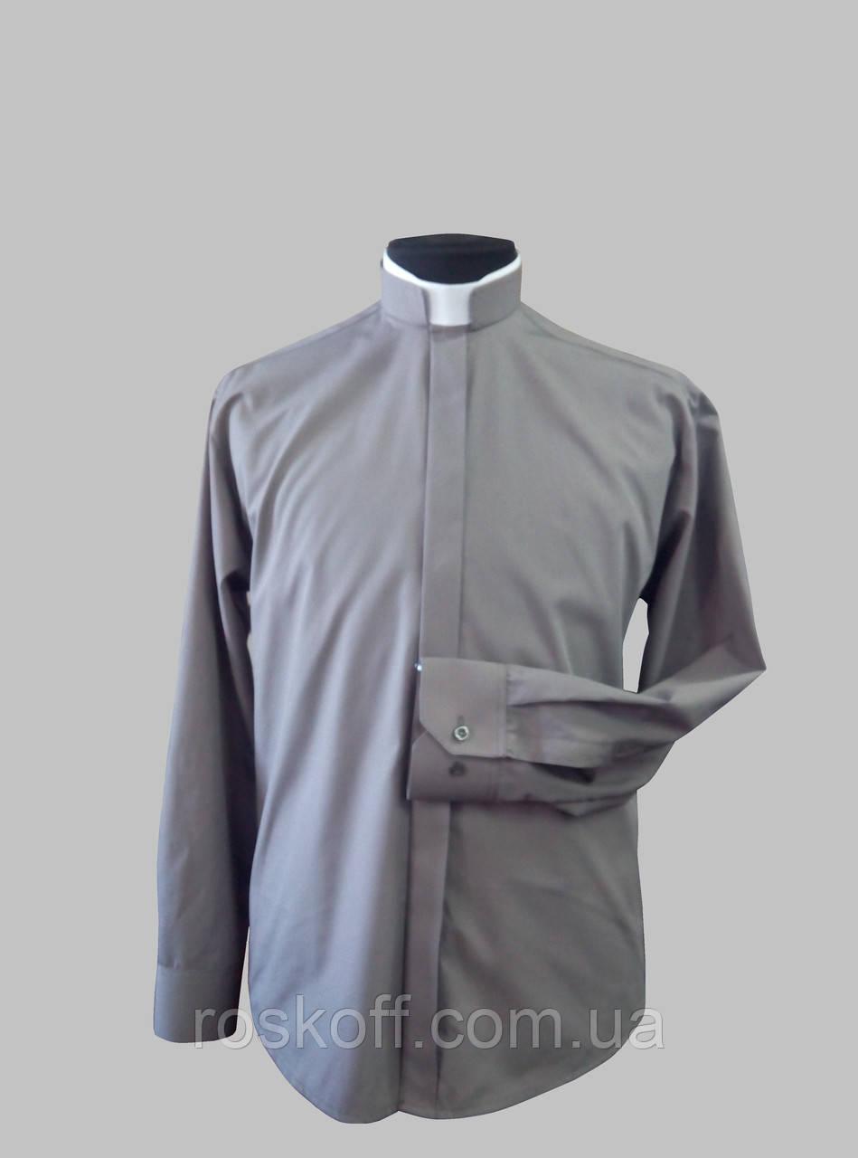 """Римо-католическая рубашка серого цвета - Оптовая и розничная продажа мужской  и женской одежды от """" Roskoff design """".Пошив одежды на заказ в Львове"""