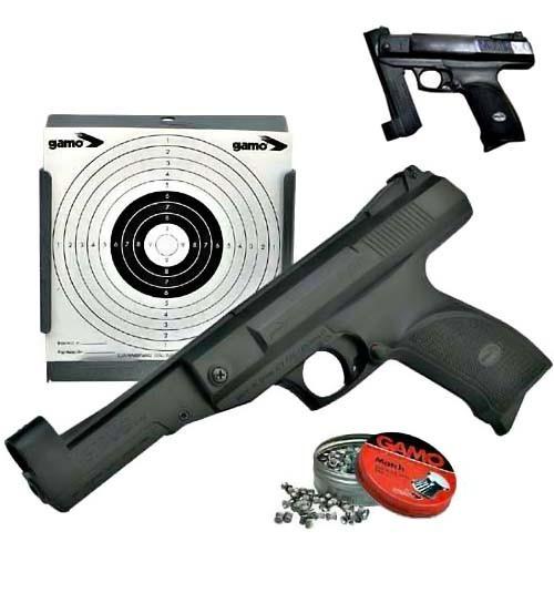 Пневматический пистолет Gamo GUNSET (P-800 + пулеулавливатель + мишени)