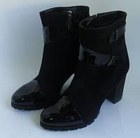 Женские полусапожки на устойчивом каблуке, фото 1