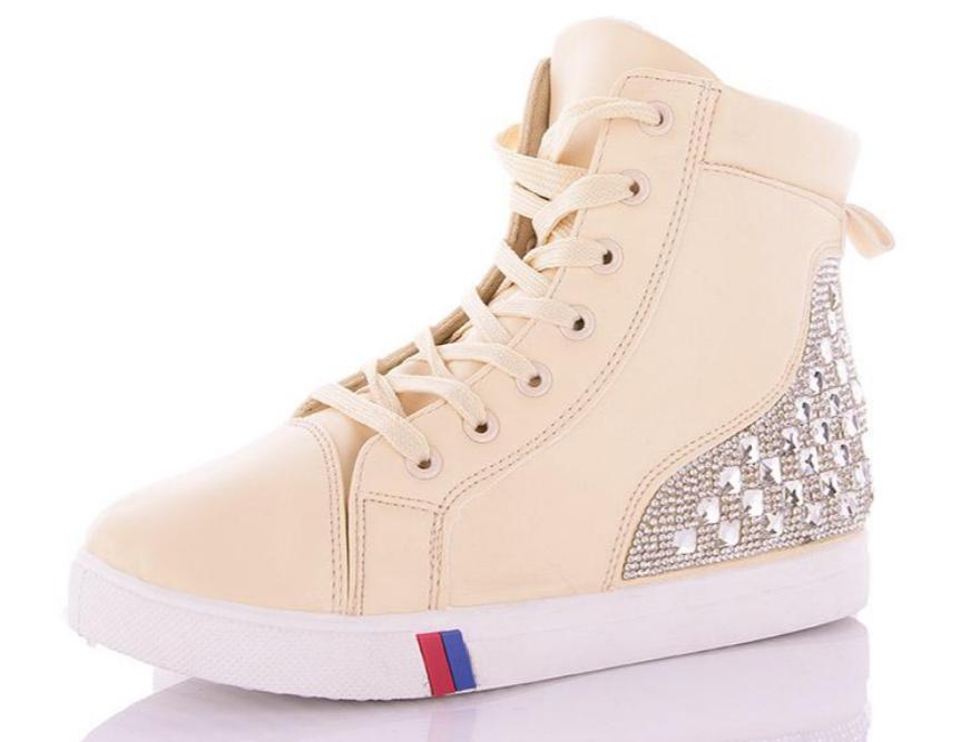 Ботинки сникерсы,кроссовки кеды женские бежевые, размеры 36,37,38,39,40,41