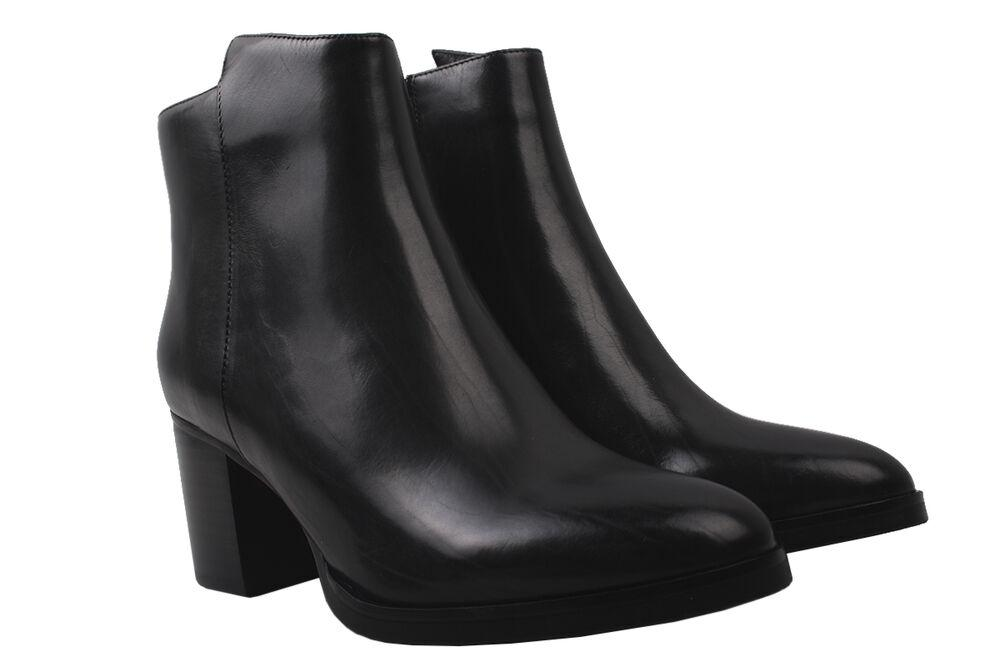 Ботильоны женские из натуральной кожи, на большом каблуке,  черные, Djovannia