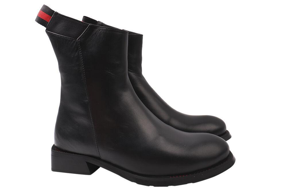 Ботинки женские из натуральной кожы, высокие, на платформе, черные, Tucino