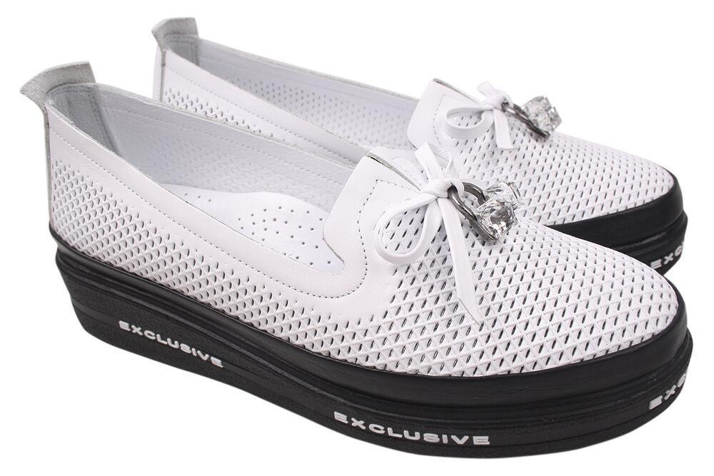 Туфлі жіночі Euromoda натуральна шкіра, колір білий