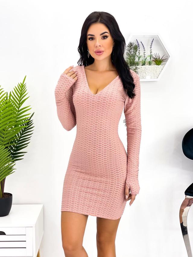 Женское облегающее короткое платье на молнии
