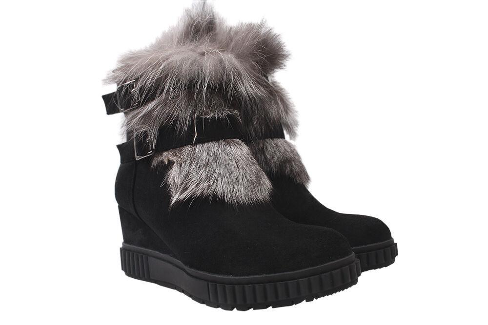 Ботинки на платформе женские Oeego эко замш, цвет черный